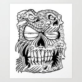 skull a bull Art Print