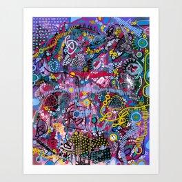 """""""racing thoughts"""" Art Print"""