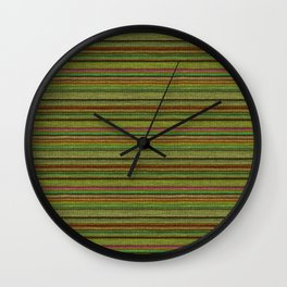 Lime Red Knitted Weaving Wall Clock