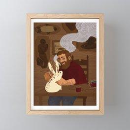 Ars Hocus I: The Taxidermist Framed Mini Art Print