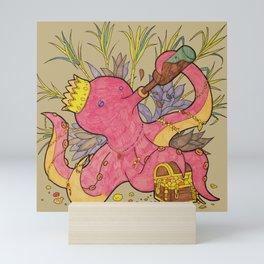 octopus king light Mini Art Print