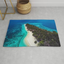 Deserted beach on a island in Philippines Rug