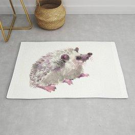 Hedgehog children room nursery art illustration Rug