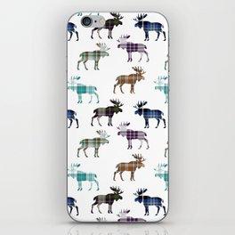 Plaid Moose iPhone Skin