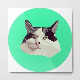 Cat Morpheus Polygonal Graphic Design Metal Print