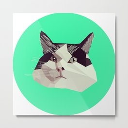 Cat Morpheus Polygonal Graphic Design Metal Print