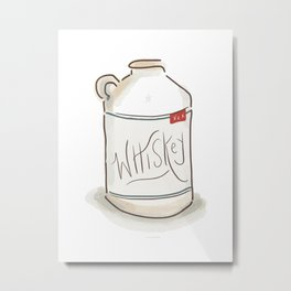 Whiskey Illustration  Metal Print