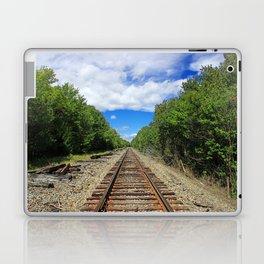 Beautiful Day Train Tracks Laptop & iPad Skin