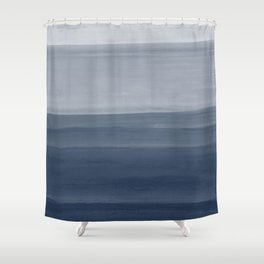 Touching Indigo Blue Watercolor Abstract #1 #painting #decor #art #society6 Shower Curtain
