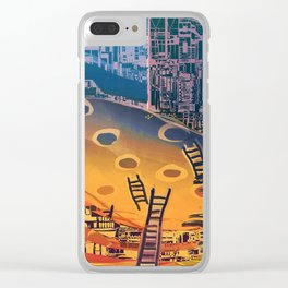 Time through Time, from Caves to Skyscraper, from Organic to Geometric Clear iPhone Case