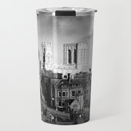 York Minster and walls in the sun Travel Mug