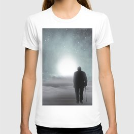 Old Man Walking Towards Heaven T-shirt