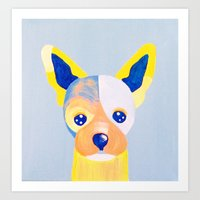 chihuahua Art Prints featuring Chihuahua  by Adriannedesignss