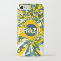 brazil iPhone & iPod Cases featuring Abstract Brazil by Danny Ivan