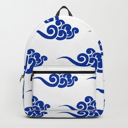 Chinese Wind Symbols in Porcelain Blue and White Backpack