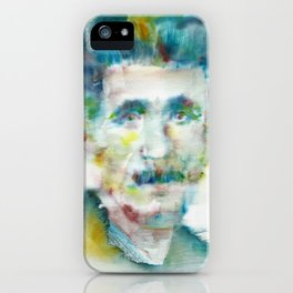 GEORGE ORWELL - watercolor portrait.1 iPhone Case