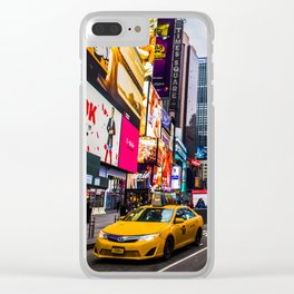 First light in Times Square Clear iPhone Case