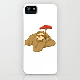grill barbeque sloth iPhone Case