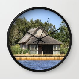 Horsey mere thatched cottage Wall Clock