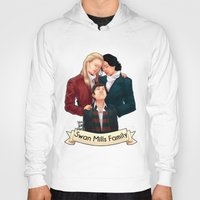 swan queen Hoodies featuring Swan Mills family by afterlaughtersart
