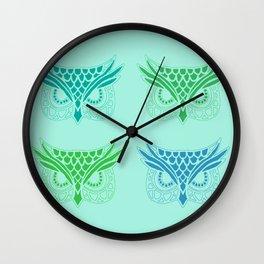 Owl Tribe II Wall Clock