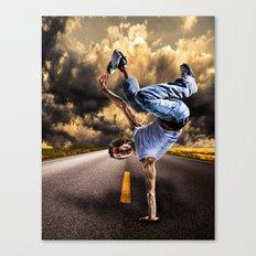 Break dance Canvas Print