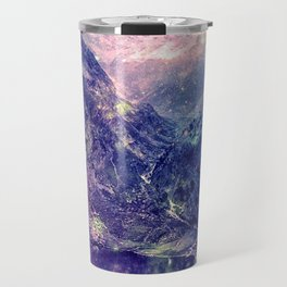 Galaxy Mountains : Deep Pastels Travel Mug