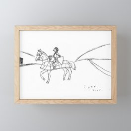 A lone knight Framed Mini Art Print
