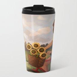 Sunflowers in the Sun Metal Travel Mug