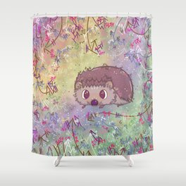 Happiest Little Hedgehog Shower Curtain