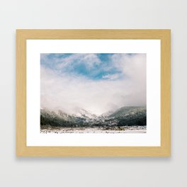 Peaceful Winter Day at Pinecrest Lake Framed Art Print