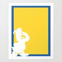donald duck Art Prints featuring Donald Duck  by JessicaSzymanski