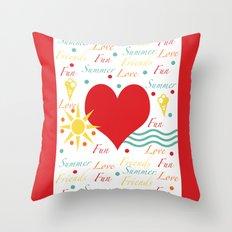 Fun, love, friends etc Throw Pillow