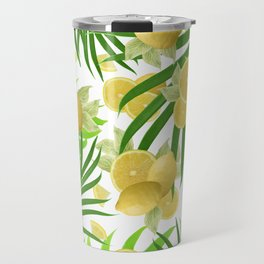 Summer Lemon Twist Jungle #2 #tropical #decor #art #society6 Travel Mug