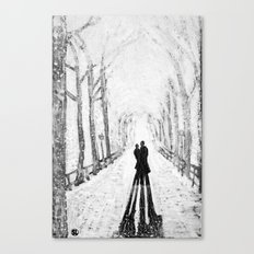 Winter Walk in the Park Canvas Print