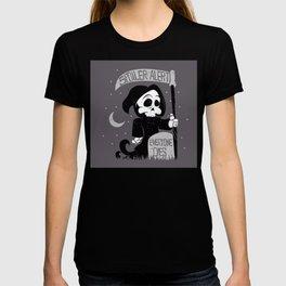 Cute cartoon grim reaper with scythe  T-shirt