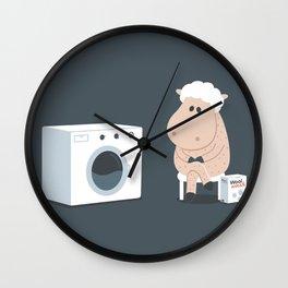 Wool wash Wall Clock