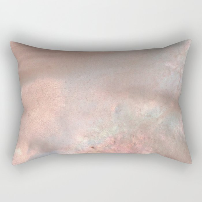 Mother of pearl in rose gold Rectangular Pillow