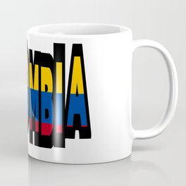 Colombia Font With Colombian Flag Coffee Mug