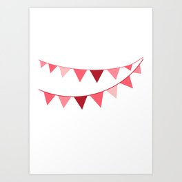 Red berry Pennant Banner Art Print