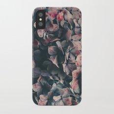 hydrangea - moody blues iPhone X Slim Case
