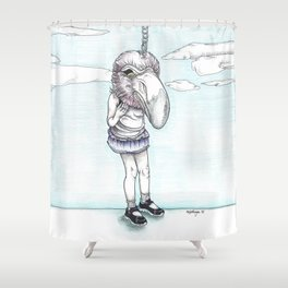 Keep Your Head in the Clouds Shower Curtain