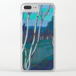 Tom Thomson Silver Birches Canadian Landscape Artist Clear iPhone Case