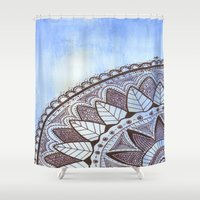 zentangle Shower Curtains featuring Zentangle by Nathanee.