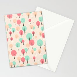 Pastel Forest Stationery Cards