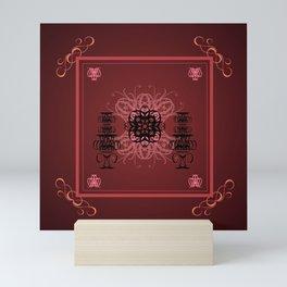 DEEP PURPLE GRAPHIC DESIGN Mini Art Print