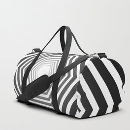 concentric hexagons with black gradient optical illusion Duffle Bag