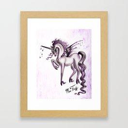 Unicorn with Bat Wings Framed Art Print