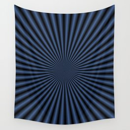 50 Rays in Dark Blue Wall Tapestry