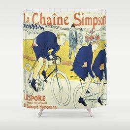 Vintage poster - La Chaine Simpson Shower Curtain